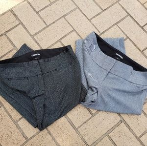 2 Pairs Womens Express Dress Pants Size 6P